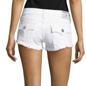 Brand new white denim true religion shorts!